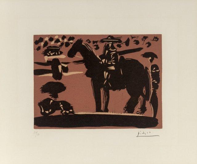 Pablo Picasso, 'Picador entrant dans l'Arène', 1959, Print, Linocut in colors on Arches paper, Heritage Auctions