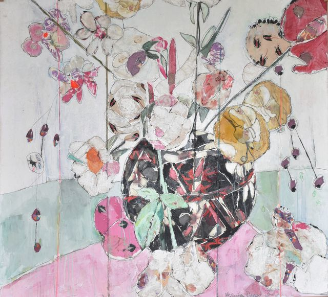 Mersuka Dopazo, 'Black Pot', 2019, Painting, Mixed media on canvas, Rebecca Hossack Art Gallery