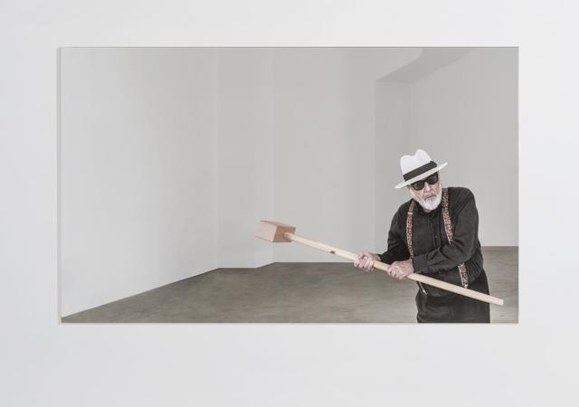 , 'Rottura dello specchio – azione 3,' 2017, GALLERIA CONTINUA