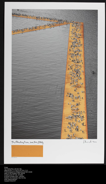 Christo, 'The Floating Piers, Lake Iseo, Italy', 2017, CITYarts Benefit Auction