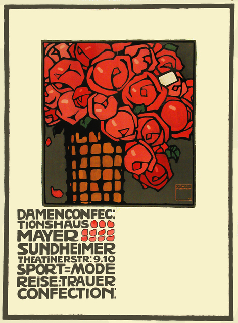 Ludwig Hohlwein | Mayer Sundheimer - Roses - Women's Clothing