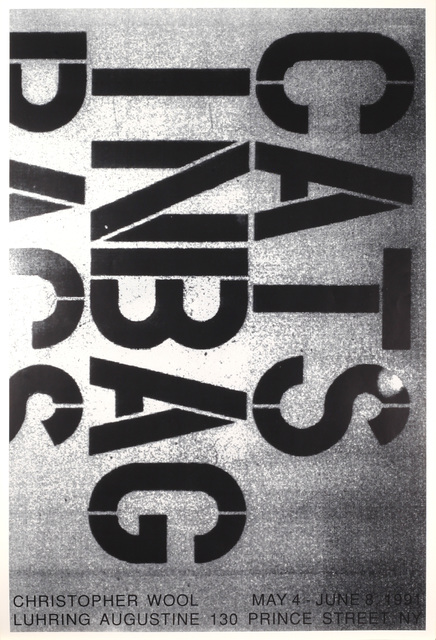 Christopher Wool, 'May 4 – June 8, 1991', 1991, Benjamin Ogilvy Projects