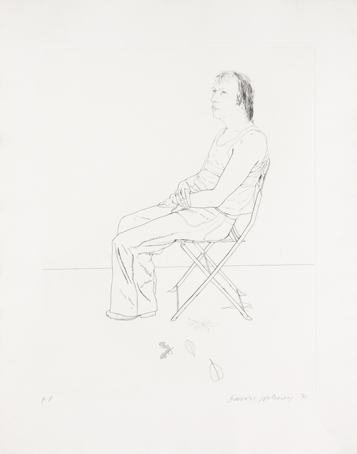 David Hockney, 'MO WITH FIVE LEAVES (SCOTTISH ARTS COUNCIL 125)', 1971, Doyle
