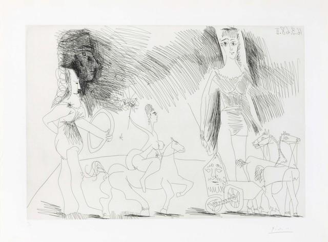 Pablo Picasso, 'Écuyères et jongleuse, from La Série 347', 1968, Christie's