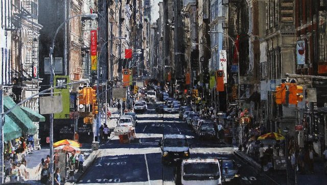 Ronald Dupont, 'City Downtown Diptych', 2017, Absolute Art Gallery