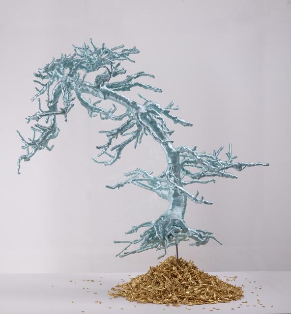 Lin Tianmiao, 'Untitled (Bonsai Tree)', 2012, Sculpture, Bonsai tree, threads, metal constructions, Galerie Lelong & Co.