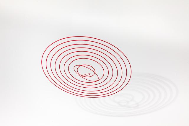 , 'Circuconcéntricos Alu Red 100,' 2017, RGR+ART