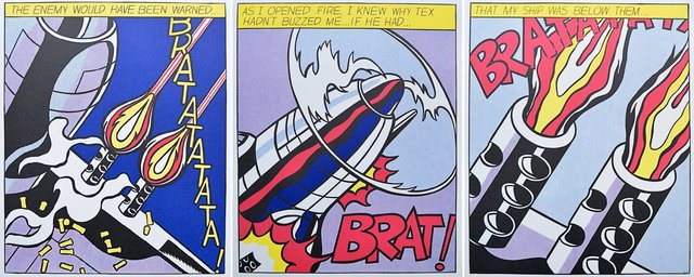 Roy Lichtenstein, 'As I opened Fire', 1960-1970, Print, Lithograph, ARTEDIO