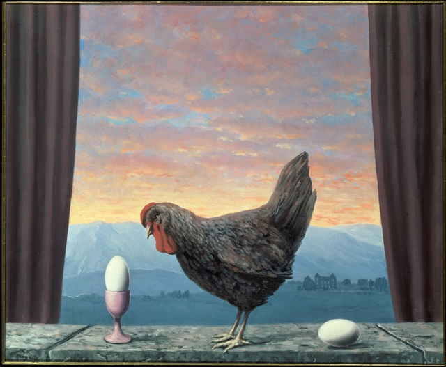 René Magritte, 'Variante de la tristesse', 1957, Painting, Oil on canvas, Centre Pompidou