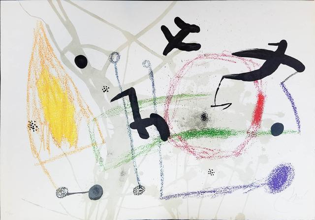 Joan Miró, 'UNTITLED from Maravillas con Variaciones Acrósticas en el Jardín de Miró (Wonders with Acrostic Variations in the Garden of Miró)', 1975, Galerie d'Orsay