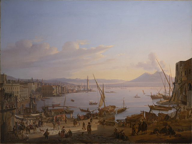 , 'View of Naples with the Lighthouse, Vesuvius beyond,' 1830, Robilant + Voena