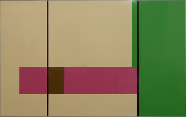 , 'colour foils on lacquered alucore, anodized aluminum frame, 150 x 250 cm,' 2006, Georg Kargl Fine Arts