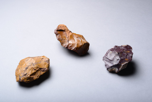 , 'Yellow, Red & Purple Jasper Tools,' ca. 80000 BCE, ArtAncient