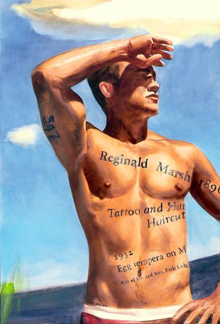Jack Balas, 'Reginald Marsh: Tattoo and a Haircut (#547)', 2011, ClampArt