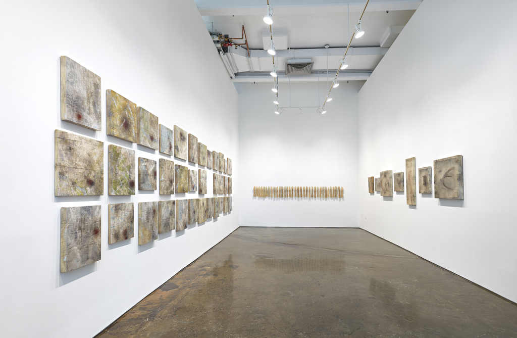 Exhibition view of Sonya Kelliher-Combs: Mark, MINUS SPACE, 2019