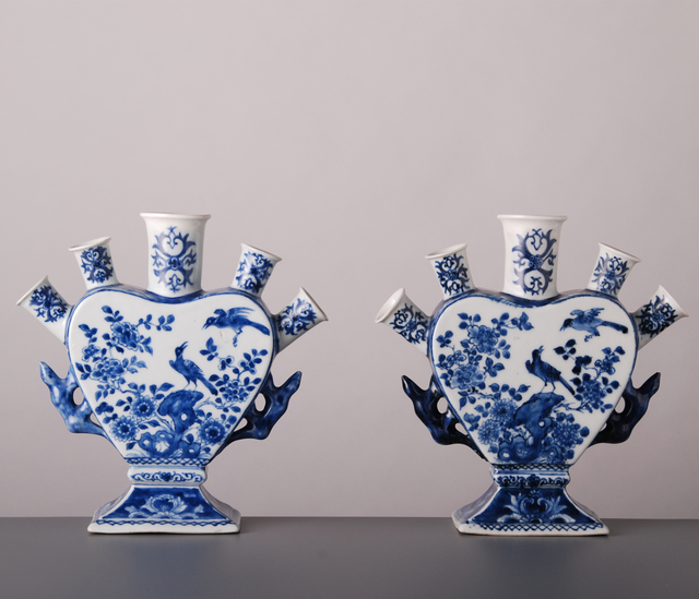 , 'Pair of Flower Vases,' China, Kangxi Period (1662, 1722) circa 1720, Vanderven Oriental Art