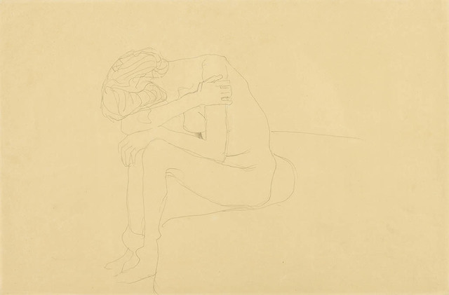 , 'Seated Nude Bent Over to the Left,' 1908-1909, Galerie Bei Der Albertina Zetter