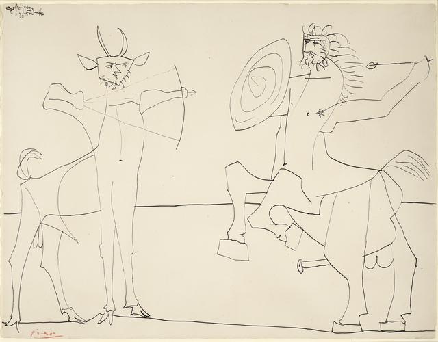 , 'Combat de Faune et de Centaure,' 1946, Galerie Jean-François Cazeau