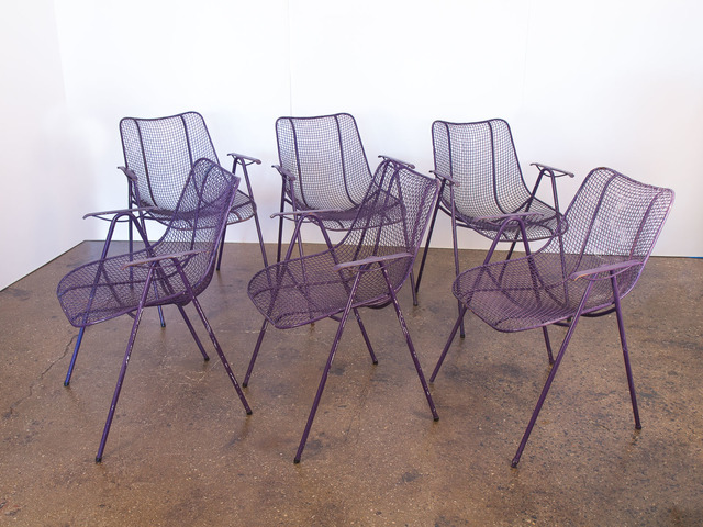 , 'Set of 6 Purple Stacking Armchairs,' ca. 1960, Open Air Modern