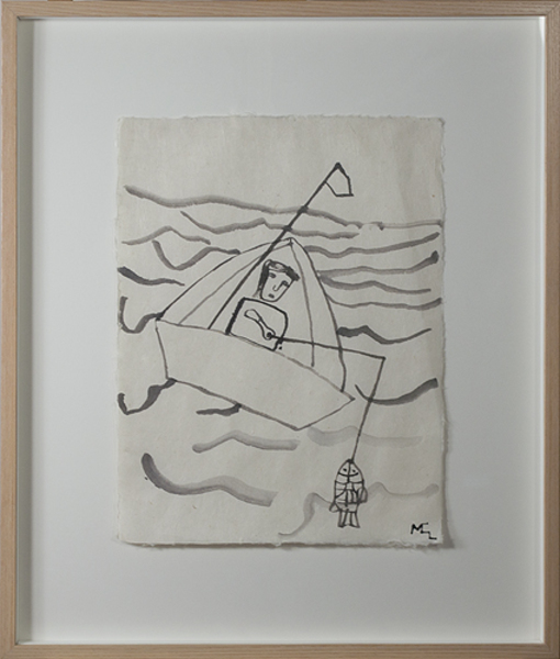 , 'Fisherman in Boat,' 1991, David Barnett Gallery