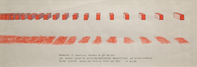 , 'Progression of 25 Minimals of Cast Red Salt,' 1969, Anglim Gilbert Gallery