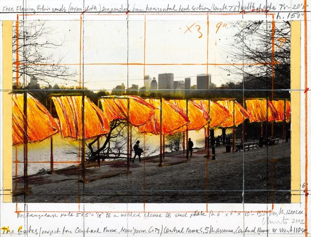, 'The gates (project for Central Park, New York City),' 2002, Repetto Gallery