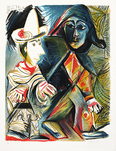 Pablo Picasso, 'Le clown et l'Harlequin (The Clown and the Harlequin)', 1971, Kings Wood Art