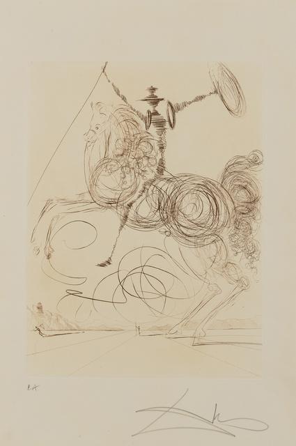 Salvador Dalí, 'Don Quichotte (Field p237)', 1975, Print, Etching, Forum Auctions