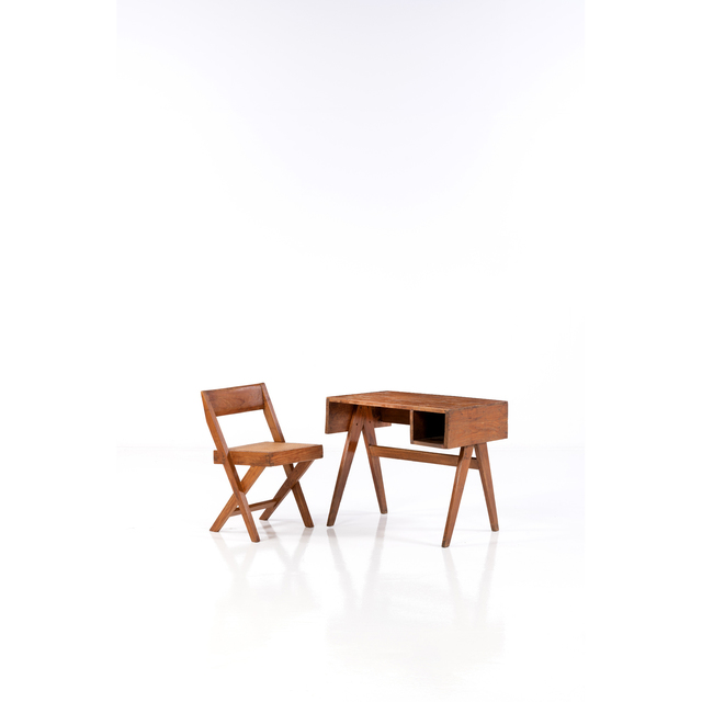 Pierre Jeanneret, 'Library; Desk and Armchair', circa 1950, PIASA