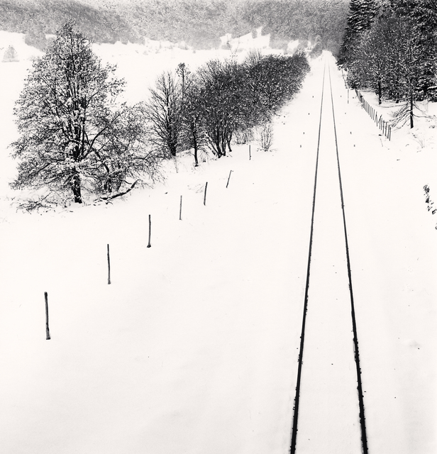, 'Railway Lines in Snow, Quarto Santa Chiara, Palena, Abruzzo, Italy ,' 2016, photo-eye Gallery