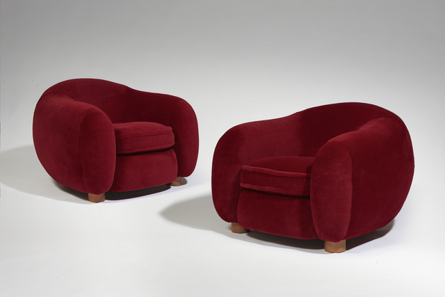 ", 'Pair of ""Ours Polaire"" armchairs,' 1952, Galerie Chastel-Maréchal"