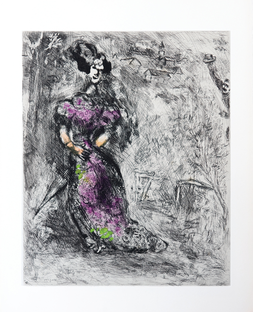 Marc Chagall, 'The Maid', 1952, Print, Etching with hand colouring, Goldmark Gallery