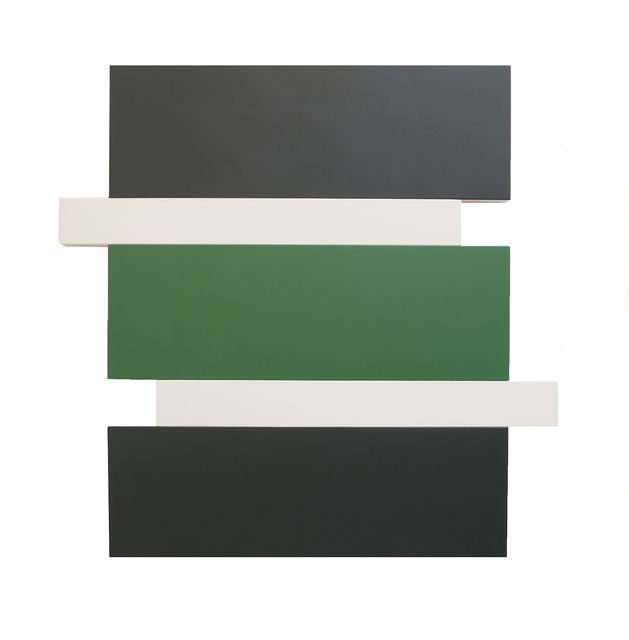 , 'Stack - Black, Green, White,' 2016, Peter Blake Gallery