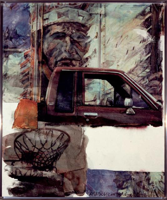 Robert Rauschenberg, 'Untitled (Native American with Truck)', 2000, Denis Bloch Fine Art