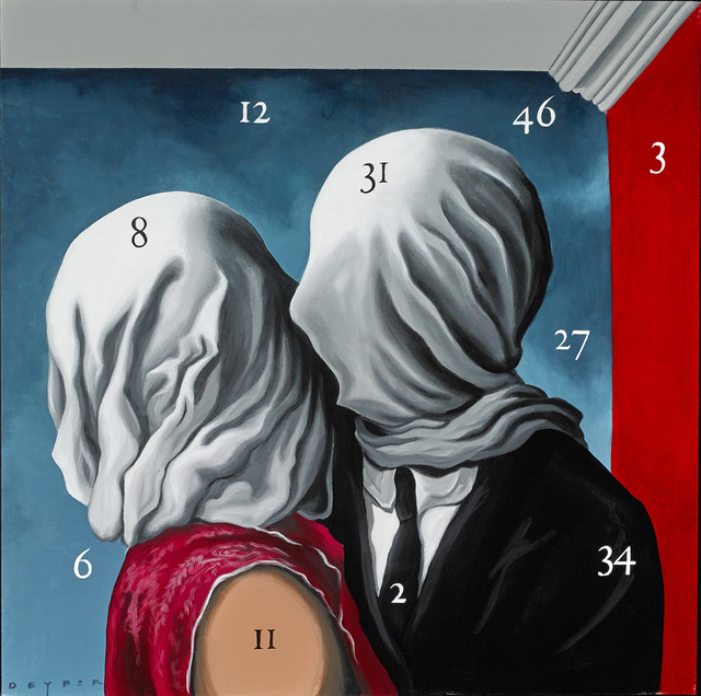 , 'Painting by Numbers XV - After Lovers, Rene Magritte 1928,' 2016, Martin Lawrence Galleries