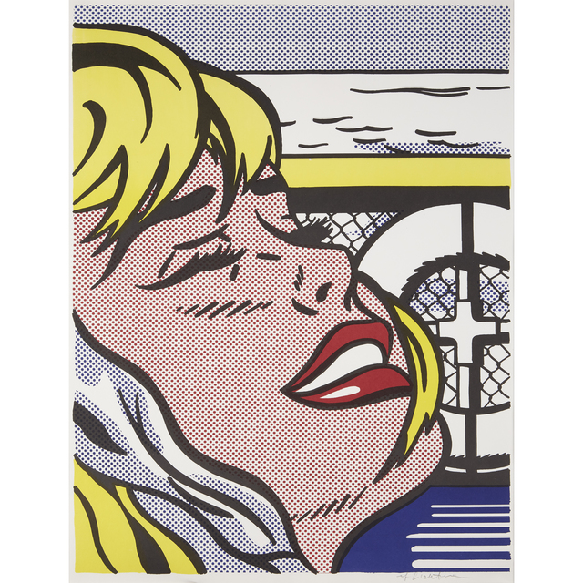 Roy Lichtenstein, 'Shipboard Girl', 1965, Print, Color offset lithograph on wove paper, Freeman's