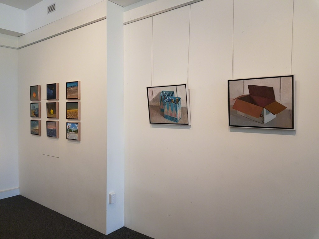 Install shots showing works by Jane Martin and Ken Wadrop