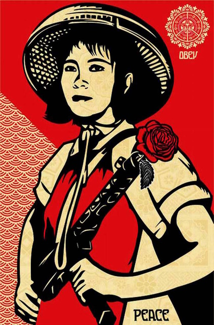 Shepard Fairey (OBEY), 'Revolution Woman ', 2005, Gregg Shienbaum Fine Art