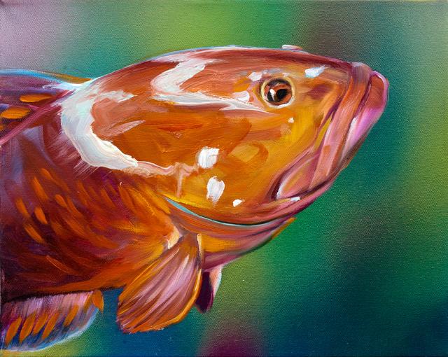 , 'Orange Grouper,' 2015, Rosamund Felsen Gallery