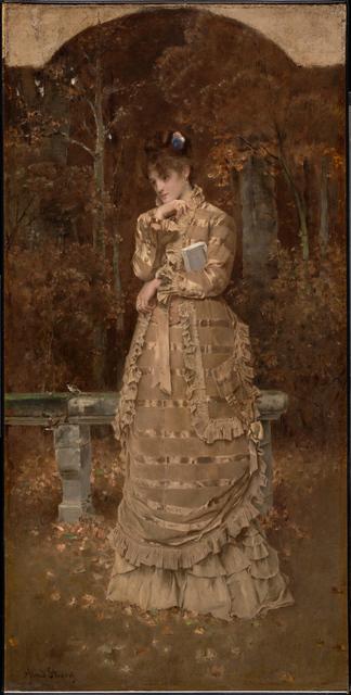 Alfred Stevens, 'Fall', 1877, Clark Art Institute