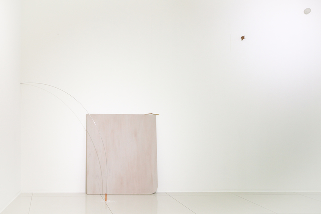 Sean TSENG, '日光緩緩.搖擺弧線 Afternoon Sun with Swinging Lines', 2020, Installation, Concrete, Plaster, Fabric, Metal, Paint, Thread, Wood, Sand, Salt, Stick, Der-Horng Art Gallery