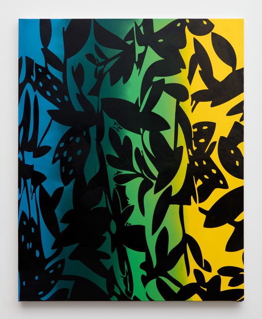 , 'Vines (blue, yellow, black),' 2015, Erin Cluley Gallery