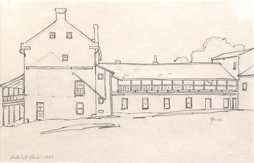 , 'HOTEL AT ELORA,' 1927, Roberts Gallery Ltd.