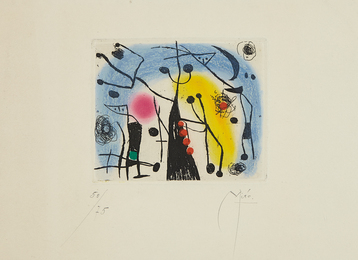 Joan Miró, 'Les magdaléniens (The Magdalenians),' 1958, Phillips: Evening and Day Editions (October 2016)