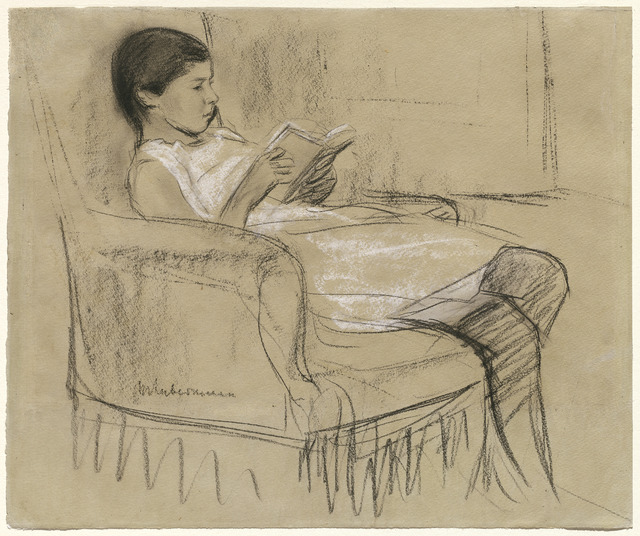 The Artist's Daughter Käthe Reading in a Chair