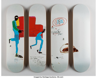 Light blue movers, set of four skate decks (Open Edition)