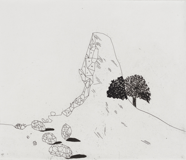 David Hockney, 'The Glass Mountain Shattered ', 1969, Marlborough London