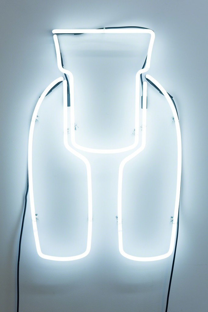 Allie Pohl, 'Ideal Woman: 3 ft Neon, White', 2013, neon, one transformer, 36 x 21 inches. Photo: Ruben Diaz
