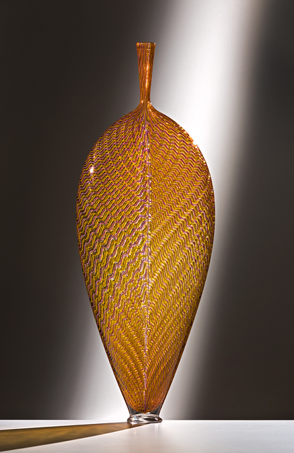 , 'Pink and Gold Wavy Leaf,' 2016, Ken Saunders Gallery