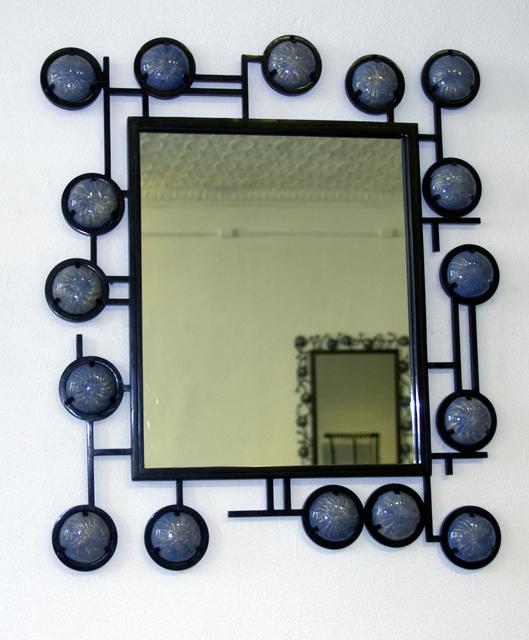, 'Blue Enamel Mirror,' 2009, Cristina Grajales Gallery